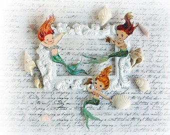 Mermaid Die Cut Embellishments  for Scrapbooking, Cardmaking, Mixed Media, Altered Art