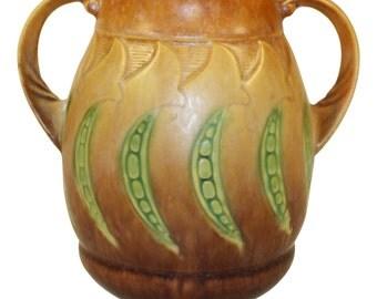 Roseville Pottery Falline Brown Vase 645-6