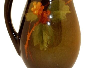 Owens Pottery Utopian Berry Small Pitcher (Steele)