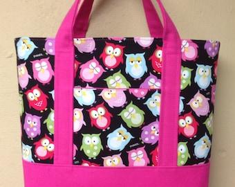 Tote Bag Weight Watchers Womens Purse Handbag Diaper Bag Carry All Knit Crochet Work in Progress Bag Project Bag Teacher Tote ~ 48 Fabrics.