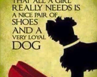 """Magnet, """"Dorothy taught us that all a girl really needs is a nice pair of shoes and a very loyal dog"""""""
