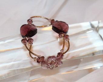 Purple - Petite Flower Bracelet: multiple colors available