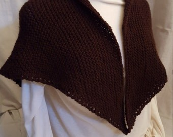 Tasha Tudor Style Shawl ~Chocolate Brown~FREE SHIP