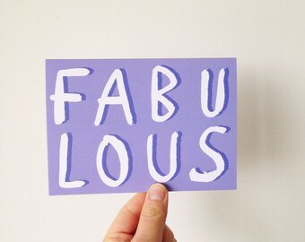 Fabulous - Brush Lettering Type Card