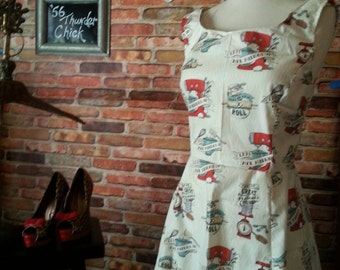 Rockabilly clothing/Swing dress/ plus size dress/made to order