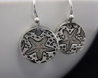 Sterling Silver Starfish Earrings / Sea Star Earrings / It Matters to This One / Loren Eiseley / Teacher Appreciation Gift / Graduation Gift