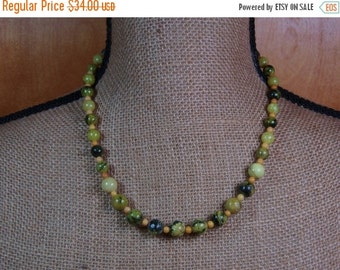 Natural American Yellow Turquoise Stone,s Painted Plains Spacers, .925 Sterling Silver Necklace and Earrings