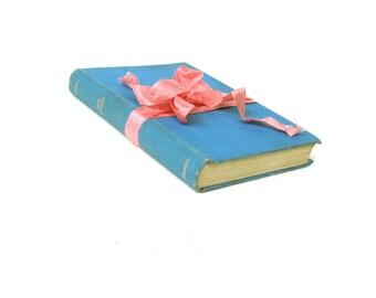 EMMA by Jane Austen, The Nelson Classics, Hardback Dustjacket Edition, Vintage Jane Austen Book,Turquoise Austen Decor, Austen Wedding Decor