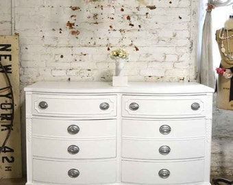 Painted Cottage Chic Shabby French Chest DR846