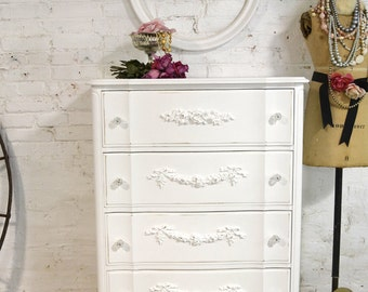 Painted Cottage Chic Shabby French Chest /Dresser