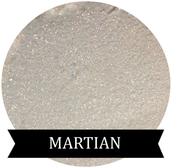 Martian White eyeshadow with Red / Pink Shimmer