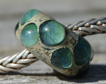 SALE - Unique Handmade Lampwork Glass European Charm Bead - Fits all charm bracelets - SRA - Silver Core Options