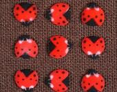 Ladybug Sugar Toppers, Ladybug Cake Pop Toppers, Ladybug Shaped Cupcake Decorations, Ladybug Cupcake Toppers, Ladybug Dec-Ons (18 ct)