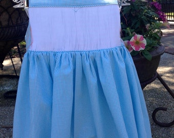 Girls' Ready to Smock Sundress with white inset  Sizes 1-6. Made to order