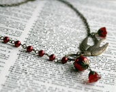 Scarlet - Vintage Inspired Red Pearl Necklace
