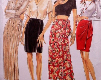 Wrap Skirt Sewing Pattern UNCUT New Look 6321 Sizes 8-18