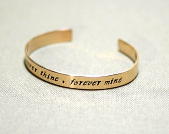 Forever Thine Forever Mine Bronze Cuff Bracelet - BR479