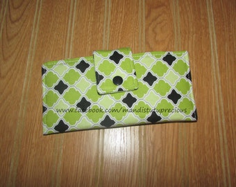 Clearance 35% off, Checkbook Cover, Fabric Checkbook Cover, Bifold, Wallet, Coupon Organizer, Ready to Ship