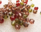 4mm Preciosa Czech Crystals - Wine and Roses Mix