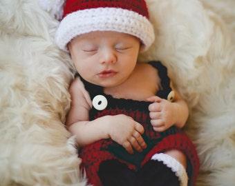 NEW SIZES Crochet Pattern Santa Set Baby Christmas Photography Prop BOTH Boy and Girl