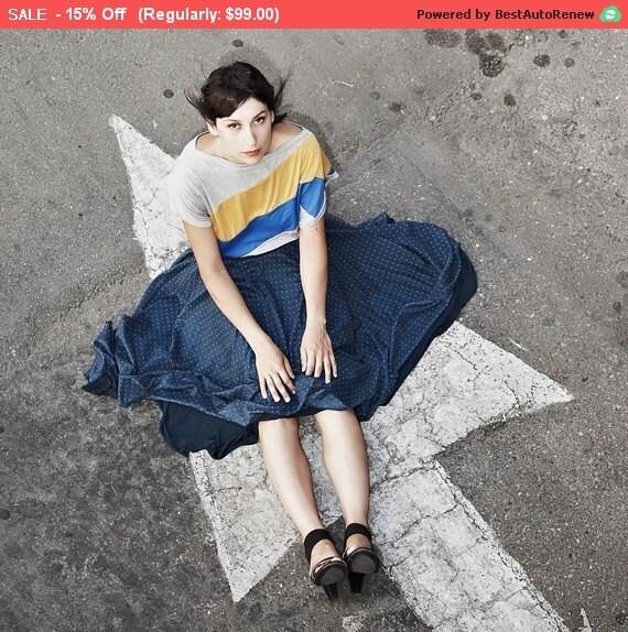 Winter Sale 15% Off!!! Polka dots skirt chiffon airy skirt