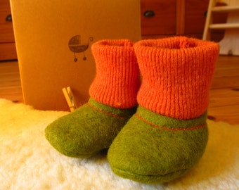 Felted wool baby sleepers