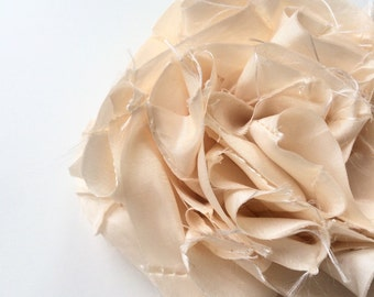SWANKY Vintage Couture Fabric Flower - Cream - (Made to Order) - Photo Prop - Spring Easter Wedding