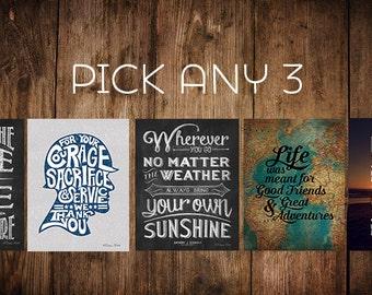 4x6 Prints - Pick any 3