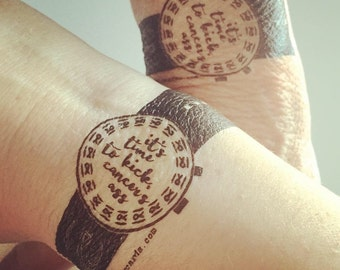 Cancer Watch Temporary Tattoo