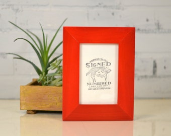 "4x6 Picture Frame in 1.5"" Standard Style with Solid Red Dye Finish - IN STOCK - Same Day Shipping - SALE 4 x 6 Photo Frame Bright Red"