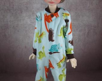 Bold Dinosaurs Pajamas for Kaye Wiggs' Maurice MSD BJD