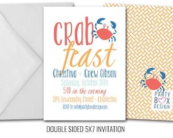 Crab Feast Invites + Beer Label Combo