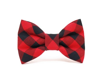 Dog Bow Tie- Gingham- buffalo plaid