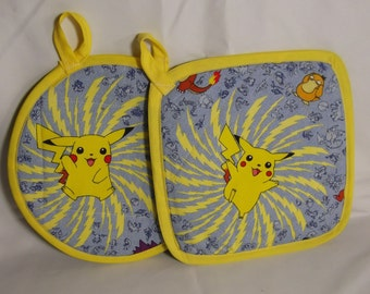 Pokemon Fabric Pot Holders / Hot Pads- Set of 2