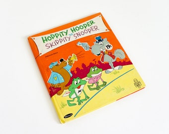 Vintage 1960s Childrens Book  / Hoppity Hooper vs. Skippity Snooper by Jean Lewis 1966 Hc / Tell-A-Tale Book