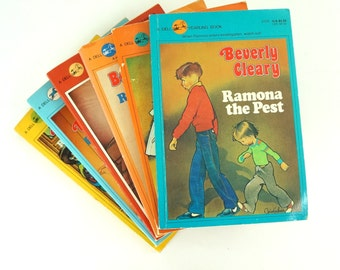 Beverly Cleary Paperbacks 80s / Set of 6 Ramona Quimby Series / Vintage Childrens Chapter Book