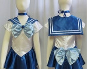 Halloween Child's Sailor Mercury Costume Cosplay Costume Size Girls 18 mo 2 3 4 5 6 7 8 9 10 11 12 14 Sailor Moon