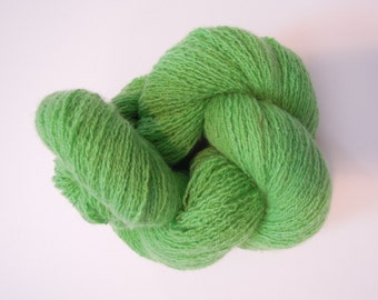 Green Popsicle Cashmere Lace Weight Recycled Yarn
