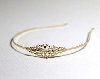 Medium Marquis Headband, Gold Filigree Headband, Bridal Headpiece, Traditional Gold Hair Accessories, Wedding Hairpiece, Princess Headband