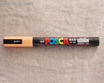Uni Posca Drawing Marker Fine, Light Orange, PC-3M, Art Supply, Poster, Illustration, Surfboard Painting, Made in Japan, Mitsubishi PC3M 54