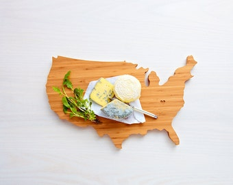 USA Cutting Board, Father's Day Gift,   Unique Wedding Gift, Personalized Gift, Summer Wedding GIft, Graduation Gift