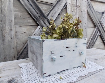 Distressed Drawer Wedding Card Box Vintage Wood Drawer Farmhouse