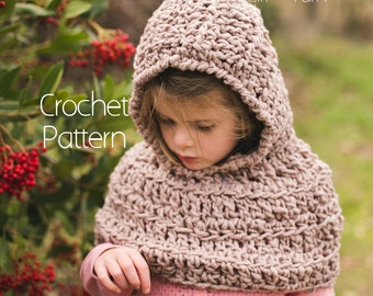 Crochet Pattern |Hooded Capelet | Instant Download | Toddler, Child, Adult Sizes Included | Sunny Afternoon by Girl Plus Yarn