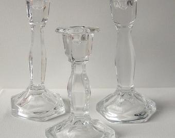 Vintage Glass Candle Holders,Weddings