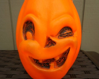 Vintage Winking Jack O Lantern Blow Mold