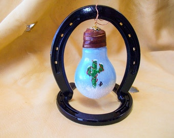 Horse Shoe Ornament Holder Table Display Hand Painted Ornament  Ornament Holder Hanger