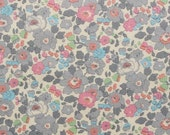 Liberty tana lawn printed in Japan - Betsy - Gray pink blue mix