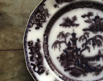 "Mulberry ironstone dinner plate 10"""