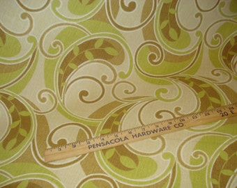 OLIVE Green Brown Tan Ivory SWIRL Contempory OUTDOOR Upholstery Fabric, 36-60-09-0911