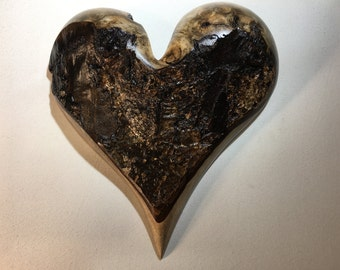 On HoLD FoR SHeRRy-NoT FoR SaLe-Wood heart wall hanging best gift ever Anniversary Myrtlewood gift by Gary Burns the treewiz